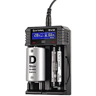 Xtar 2AMPS ROCKET SV2 18650 Battery Charger  Li-ion  Ni-MH fast-charging Charger with 2A  Premium USB LCD Display Cha
