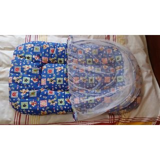 Baby bed with Mosquito Net blue color