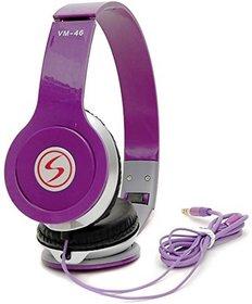 Signature Purple vm46 Solo Universal Headphone (purple, Over the Ear all smartphone support)