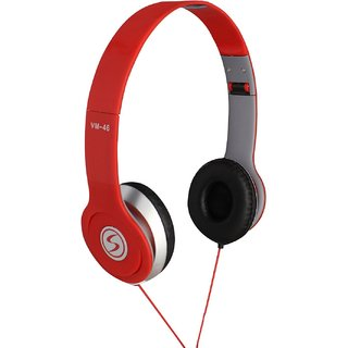 Signature Red Vm46 Solo Hd Stereo Dynamic Over the Ear Wired Headphones