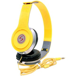 Signature vm46 Solo Universal Headphone (Yellow Over the Ear all smartphone spotted)