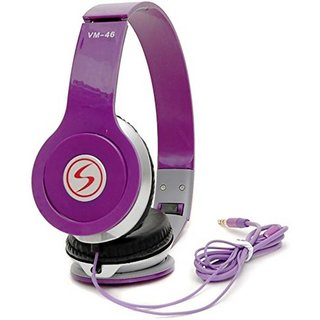 Signature Purple vm46 Solo Universal Headphone (purple Over the Ear all smartphone support)