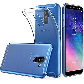 Samsung Galaxy A6 (2018 Edition) Transparent Ultra Protection Rubberised Crystal Clear Back Cover