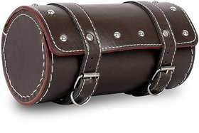 SCORIA Leatherette Back Seat Saddle Bag (Brown)