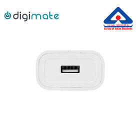 Digimate 2.1A Single Port USB White Adapter  Wall Charger  Fast charging