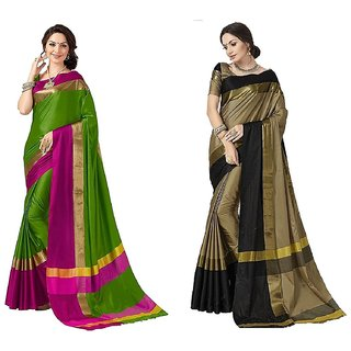 34bc381bd46fa3 Buy Indian Beauty Art Cotton Silk Partywear With Blouse Combo Of 02 ...