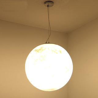 3D Moon Lamp India/Moon Shaped WIRED Moon Lunar moonlight - 17CM Hanging Lamp ( Warm White Lamp)