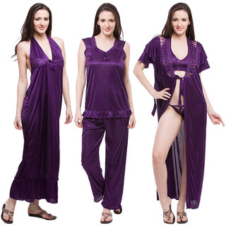 Fasense women satin 6 Pcs nightwear nightdress bridal set for honeymoon  DP114 7eda20938