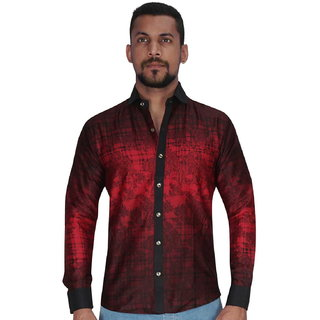 Panel Adjustent Design in Red  Black Color Shirt By Corporate Club