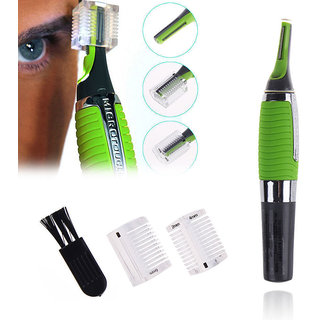 Rhonnium Micro Touch Max Personal Ear Nose Neck Eyebrow Hair Trimmer Remover - Green