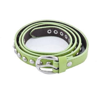 Vestiario 20mm PU Belt For Women, Green-Free Size