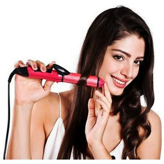 Hair straightener 2 in 1 Straightener and Curler NHC   2009