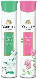 Yardley  English Rose, Jasmine (Pack of 2) Deo