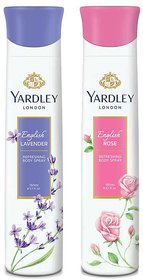 Yardley English Rose, English Lavender (Pack of 2) Deo
