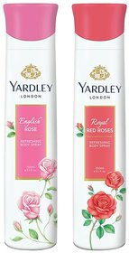 Yardley English Rose, Red Roses Deo (Pack of 2)