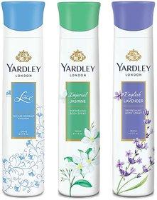 Yardley Jasmine, Lace Satin, English Lavender Deo (Pack of 3)