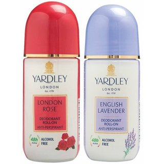 English Lavender and London Rose Roll on (50 ml, Pack of 2)