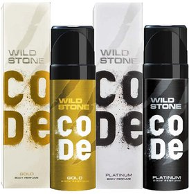 Wild Stone Code Platinum And Gold (Pack Of 2) No Gas Deodorants
