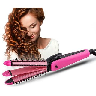 NVA 3 IN 1 Curl  Hair Straightener  Machine