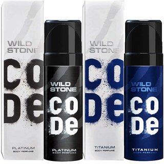 Wild Stone Code Platinum And Titanium No Gas Deo (Pack Of 2 )
