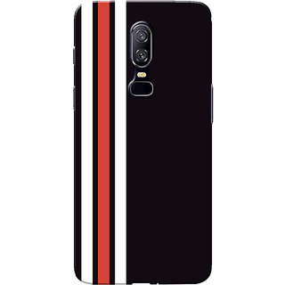 new concept 43166 63c0b Buy OnePlus 6 Case, One Plus 6 Case, Three Strips Red White Black ...