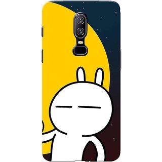 huge selection of 5dc7c 9eb90 Buy OnePlus 6 Case, One Plus 6 Case, Rabbit Cartoon Orange Black ...