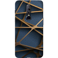 OnePlus 6 Case, One Plus 6 Case, Criss Cross Lines Slim Fit Hard Case Cover/Back Cover for One Plus 6