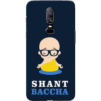 OnePlus 6 Case, One Plus 6 Case, Shant Baccha Blue Slim Fit Hard Case Cover/Back Cover for One Plus 6