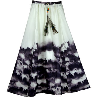 a86d45b5355 SHOPONBIT Presents royal crepe printed skirt for women s ( Speciality more  pankh printed on the skirt