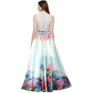8d2b8c60d SHOPONBIT Presents royal crepe printed skirt for women's ( Speciality more  pankh printed on the skirt