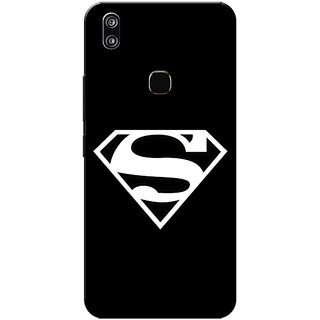 Vivo V9 Case, Vivo V9 Youth Case, Supermn Black Slim Fit Hard Case Cover/Back Cover for Vivo V9