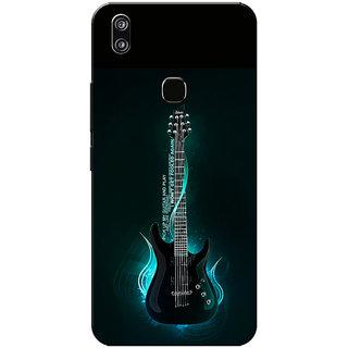 Vivo V9 Case, Vivo V9 Youth Case, Electric Guiter Blue Slim Fit Hard Case Cover/Back Cover for Vivo V9