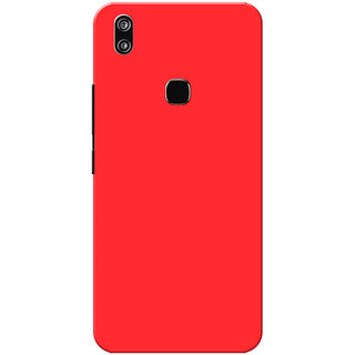 Vivo V9 Case, Vivo V9 Youth Case, Red Plain Colour Slim Fit Hard Case Cover/Back Cover for Vivo V9