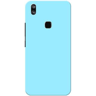 Vivo V9 Case, Vivo V9 Youth Case, Sky Blue Plain Colour Slim Fit Hard Case Cover/Back Cover for Vivo V9
