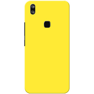 Vivo V9 Case, Vivo V9 Youth Case, Yellow Plain Colour Slim Fit Hard Case Cover/Back Cover for Vivo V9