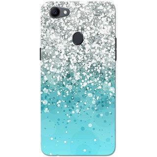 Oppo F7 Case, Oppo A3 Case, Oppo Realme 1 Case, Silver And Aqua