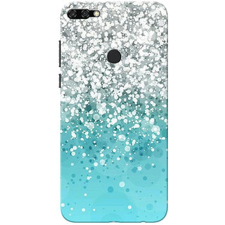 the best attitude cd55c b6695 Buy Huawei Honor 7C Case, Silver And Aqua Blue Shade Design Slim Fit ...