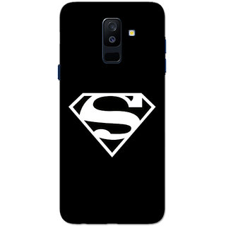new style 373a1 b6c4d Buy Galaxy A6 Plus 2018 Case, Supermn Black Slim Fit Hard Case Cover ...