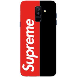 brand new 62cbc 2338e Buy Galaxy A6 Plus 2018 Case, Supreme Red Black Slim Fit Hard Case ...