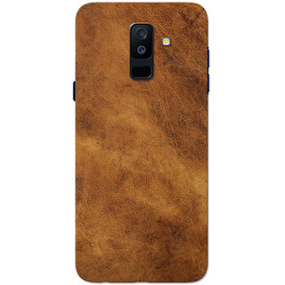 promo code 8544b 906d0 Buy Galaxy A6 Plus 2018 Case, Leather Texture Brown Slim Fit Hard ...