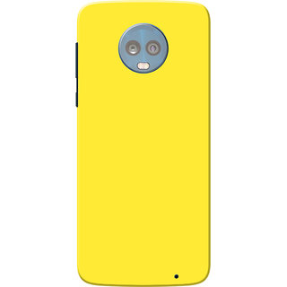 official photos 2ae80 bc19f Buy Moto G6 Plus Case, Yellow Plain Colour Slim Fit Hard Case Cover ...