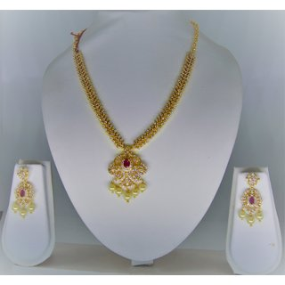 81f41389c91 Buy Designer Beautiful CZ Necklace Set Online @ ₹1199 from ShopClues