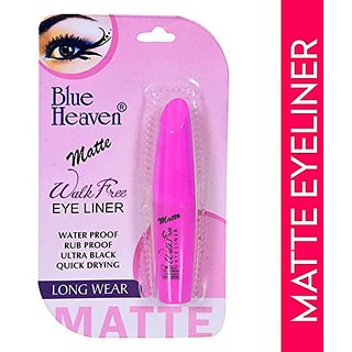 BLUE HEAVEN WALKFREE MATTE EYELINER  9ML (Black)