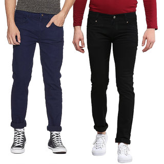 Waiverson Slim Fit  Men's Multicolor Jeans(Pack of 2)