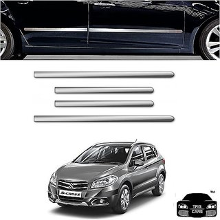 Chrome Bumper Guard Door Side Chrome Beading (8 pcs Set Combo)  Maruti Suzuki S Cross