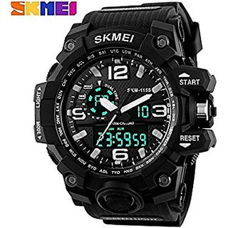 Skmei SKMEI-1155 Analogue-Digital Black Dial Mens Watch