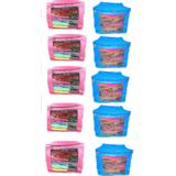 DIMONSIV Plain Pack of 10 Large Saree Salwar Suit Bedsheet Cover Case Capacity10 15 Units Each  Blue   Pink