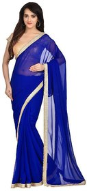 blue marble designer saree with blouse piece motiblue