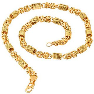 20 inch Lustrous Link Gold Plated Heavy Chain by Sparkling Jewellery