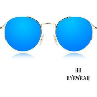 06deae9a1e3 Buy HH Blue UV Protection Round Unisex Sunglasses Online   ₹699 ...